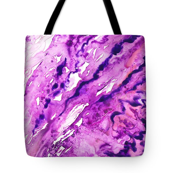 To The Unknown Abstract Path Number Nine Tote Bag by Irina Sztukowski