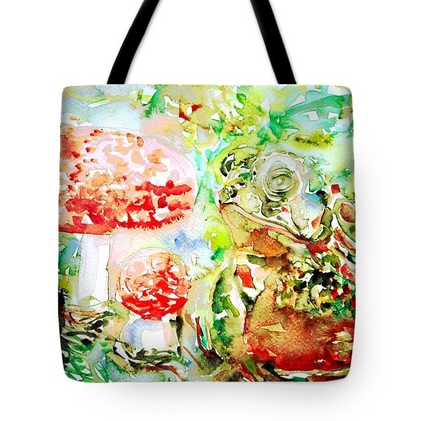 Toad And Mushroom.2 Tote Bag by Fabrizio Cassetta