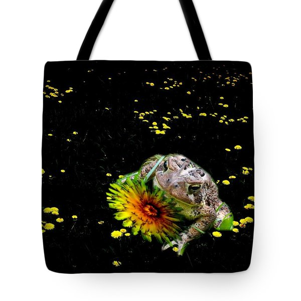 Toad In A Lions Den Tote Bag
