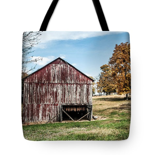 Tote Bag featuring the photograph Tobacco Barn Ready For Smoking by Debbie Green