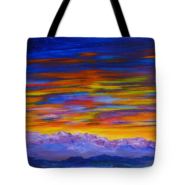 Tobacco Root Mountains Sunset Tote Bag