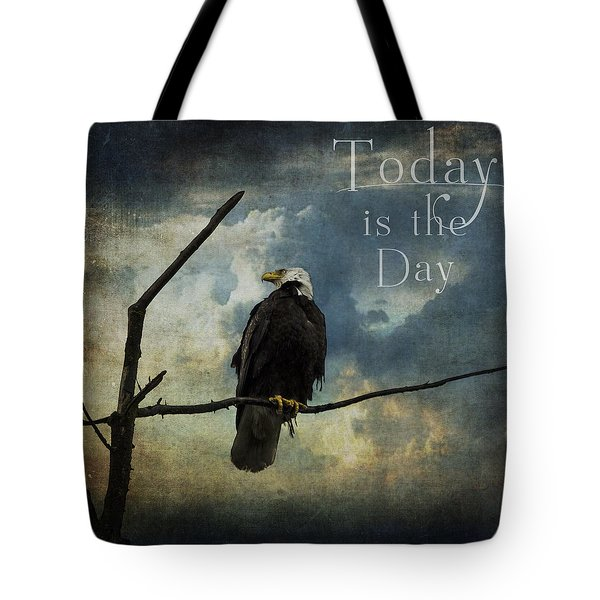 Today Is The Day - Inspirational Art By Jordan Blackstone Tote Bag by Jordan Blackstone