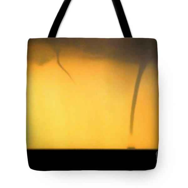 Todays Weather Sunny But Strong Chance Of A Water Spout Or Two Tote Bag by Michael Hoard