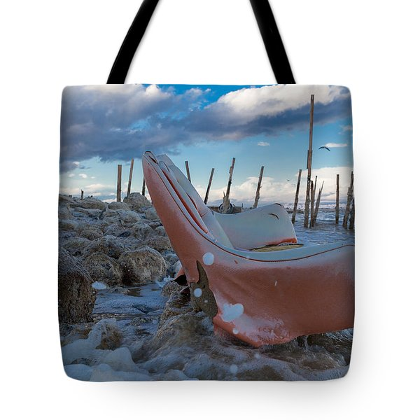Toes In The Surf Tote Bag by Scott Campbell