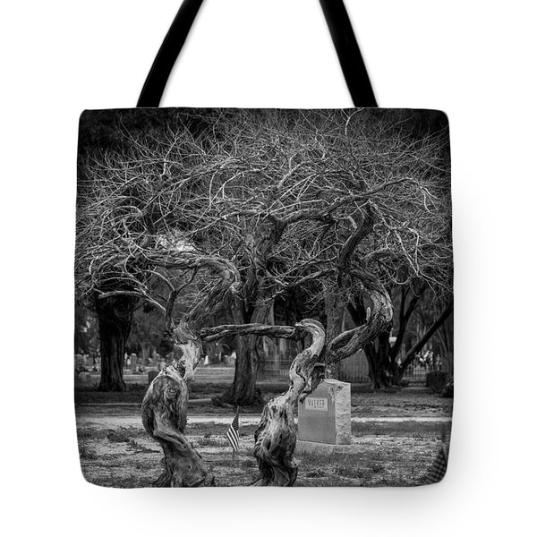 Tote Bag featuring the photograph Together Even In Death by Amber Kresge