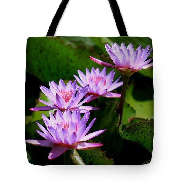 Together We Bloom - Violet Lily Tote Bag