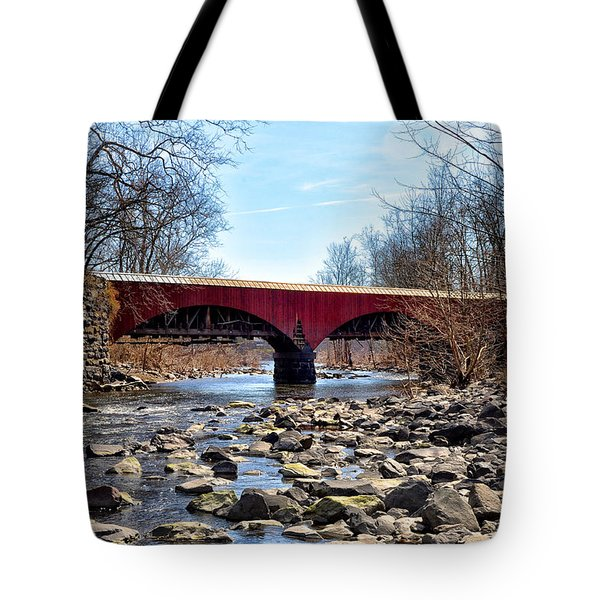 Tohickon Creek Aqueduct Point Pleasant Tote Bag