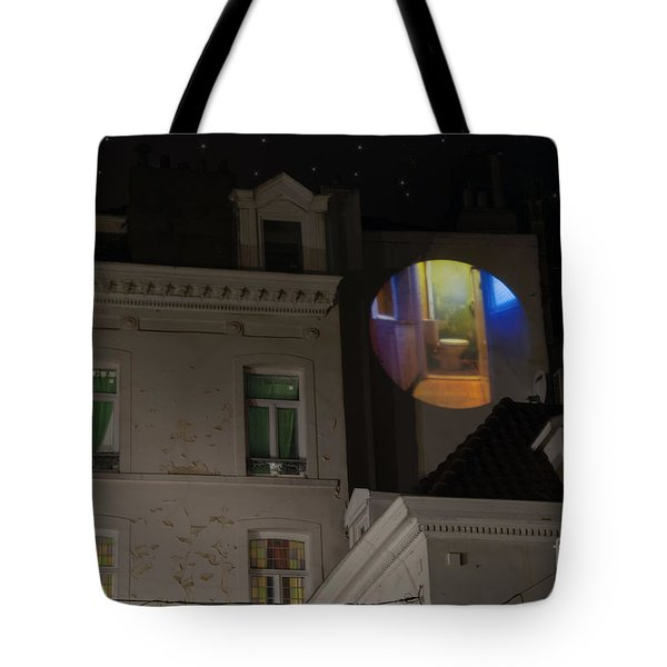 Toilet In Technicolor Tote Bag by Juli Scalzi