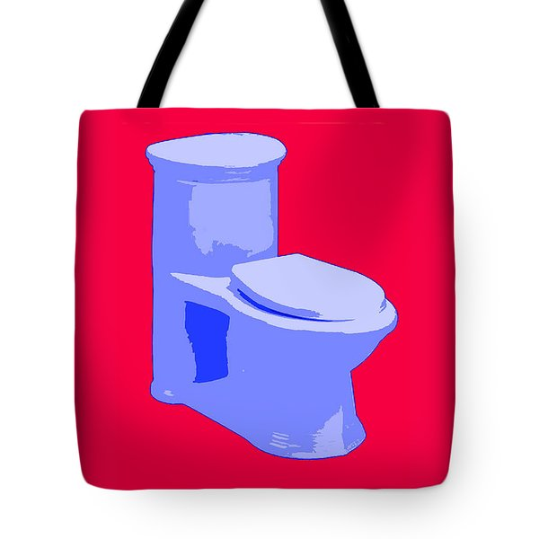 Toilette In Blue Tote Bag
