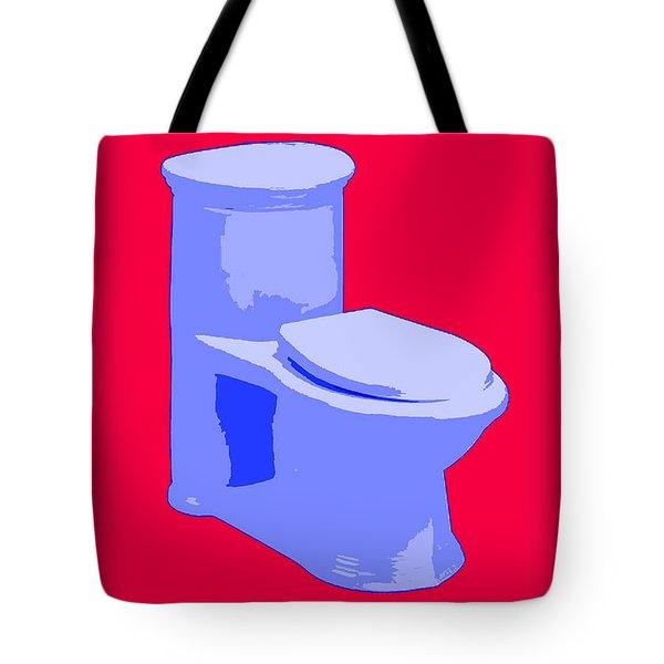 Toilette In Blue Tote Bag
