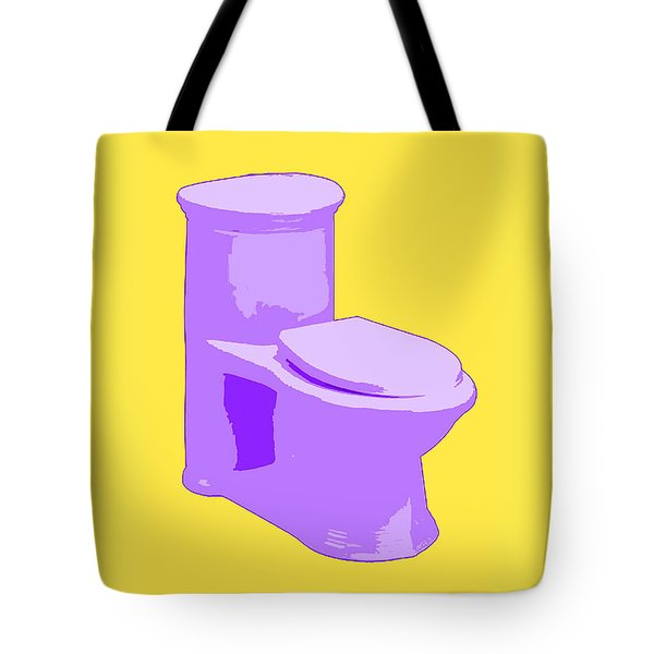 Toilette In Purple Tote Bag