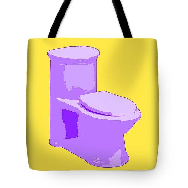 Toilette In Purple Tote Bag