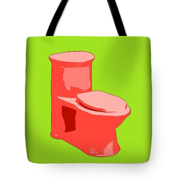 Toilette In Red Tote Bag