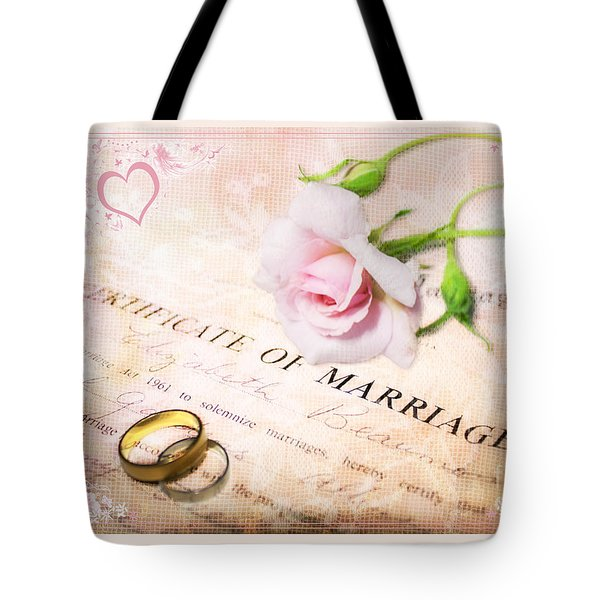 Tokens Of Love Tote Bag by Linda Lees