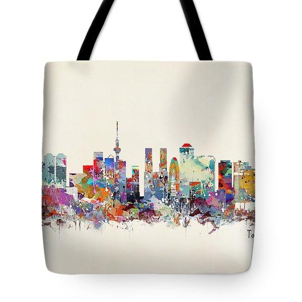 Tokyo Skyine Tote Bag