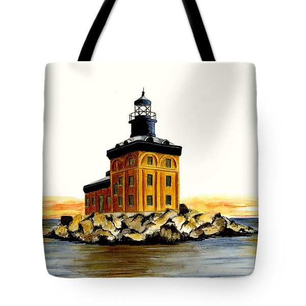 Toledo Harbor Lighthouse Tote Bag by Michael Vigliotti
