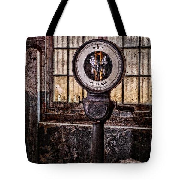 Toledo No Springs Scale Tote Bag by Susan Candelario