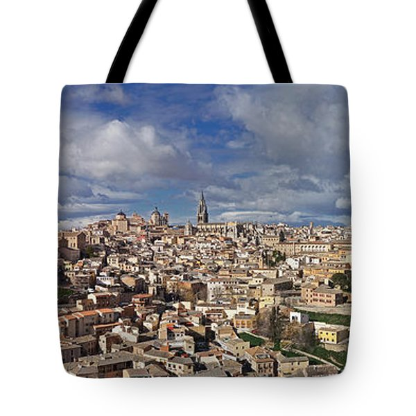 Toledo Old Town Panorama Tote Bag by Rudi Prott