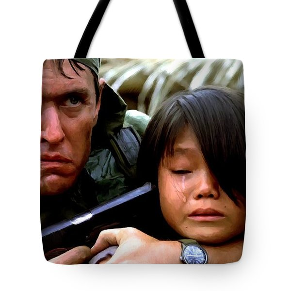 Tom Berenger In The Film Platoon - 1 Tote Bag