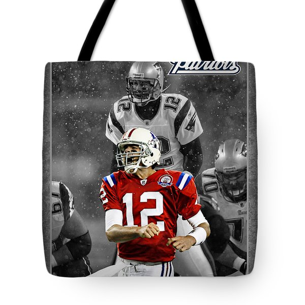 Tom Brady Patriots Tote Bag