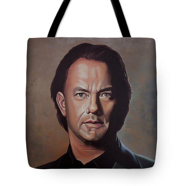 Tom Hanks Tote Bag by Paul Meijering