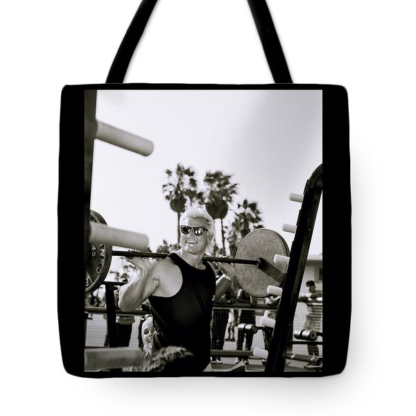 Tom Platz In Los Angeles Tote Bag