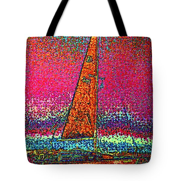 Tom Ray's Sailboat 3 Tote Bag by First Star Art