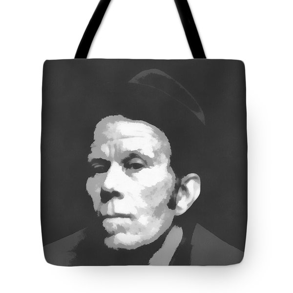 Tom Waits Charcoal Poster Tote Bag