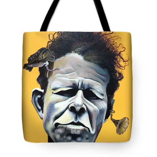 Tom Waits - He's Big In Japan Tote Bag by Kelly Jade King