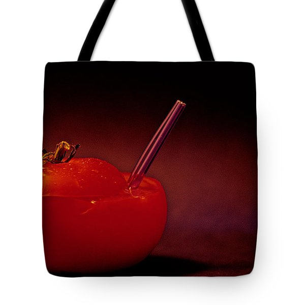 Tote Bag featuring the photograph Tomato Juice by Sharon Elliott