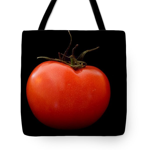 Tomato On Black Tote Bag