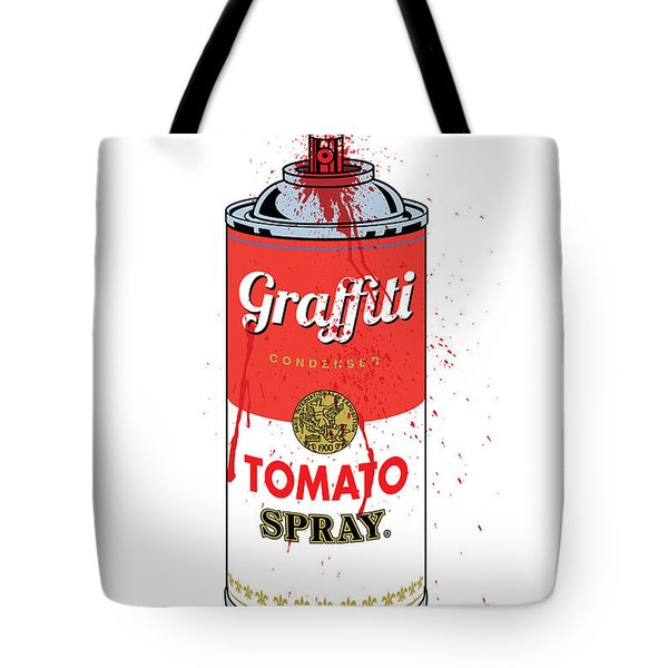 Tomato Spray Can Tote Bag