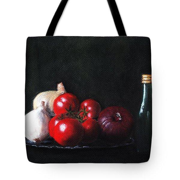 Tomatoes And Onions Tote Bag by Anastasiya Malakhova