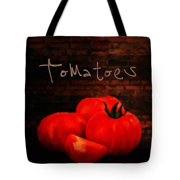 Tomatoes II Tote Bag by Lourry Legarde