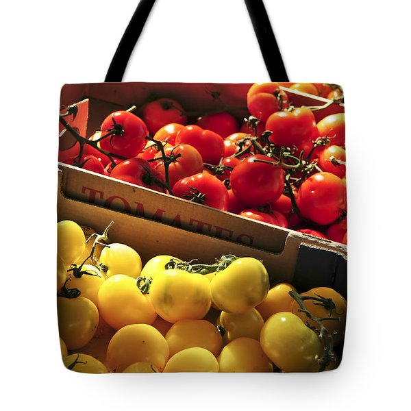 Tomatoes On The Market Tote Bag
