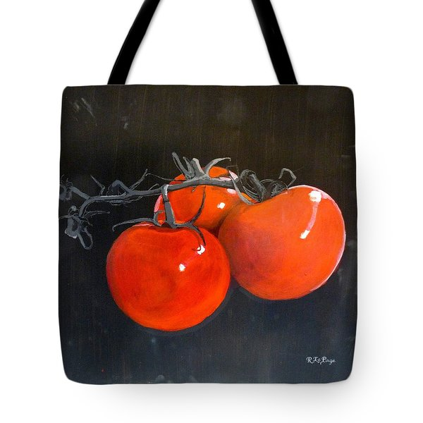 Tote Bag featuring the painting Tomatoes by Richard Le Page