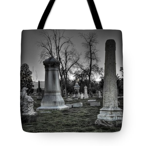 Tombstones And Tree Skeletons Tote Bag