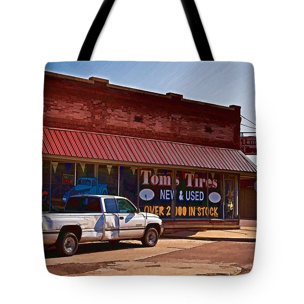 Tom's Tires Tote Bag