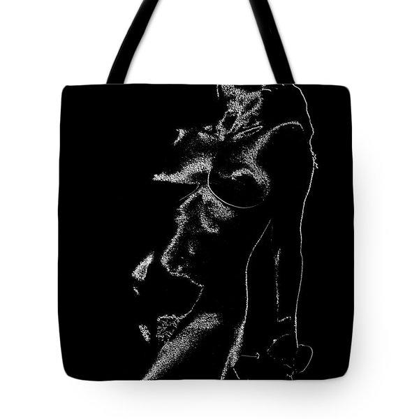 Tone-line Form Tote Bag