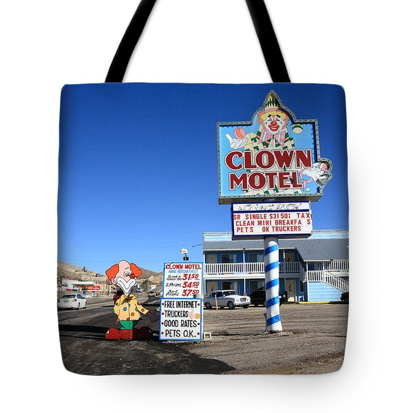 Tonopah Nevada - Clown Motel Tote Bag by Frank Romeo