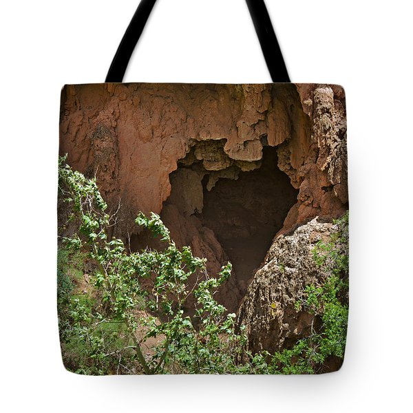 Tonto Natural Bridge State Park Tote Bag by Christine Till