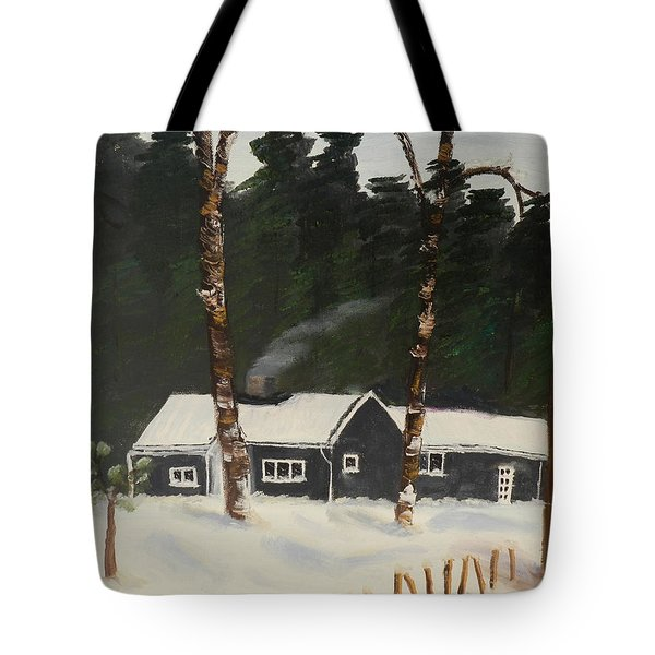 Tonys House In Sweden Tote Bag