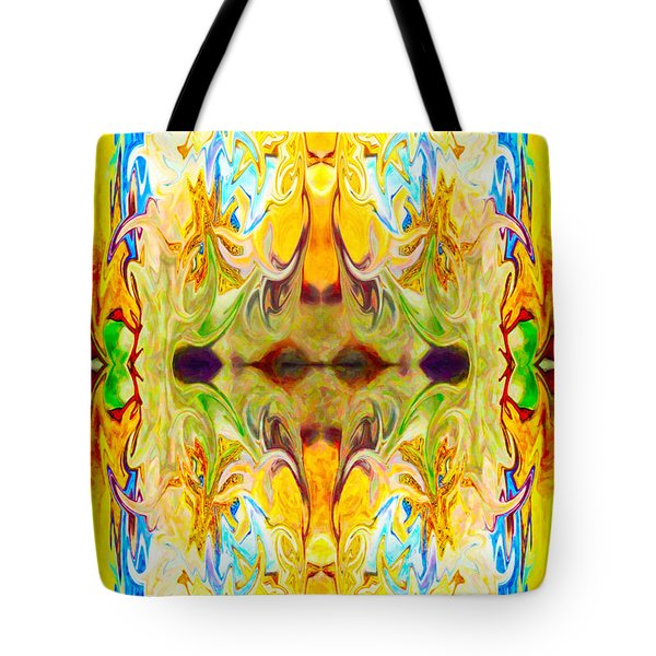 Tony's Tower Abstract Pattern Artwork By Tony Witkowski Tote Bag by Omaste Witkowski