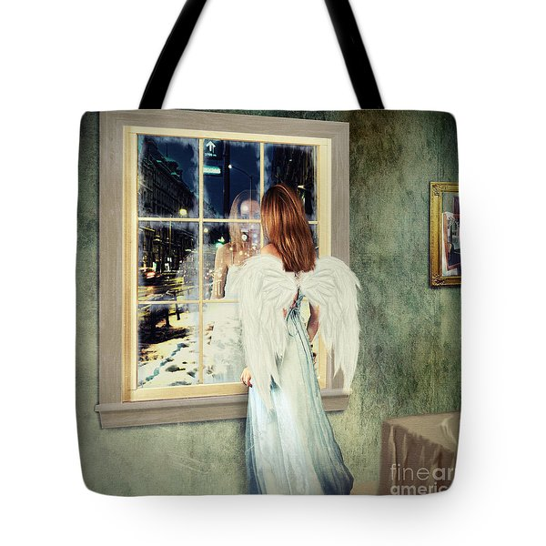 Too Cold For Angels Tote Bag by Linda Lees