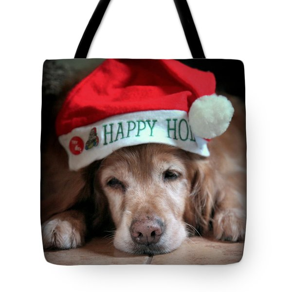 Too Much Eggnog Tote Bag by Karen Wiles