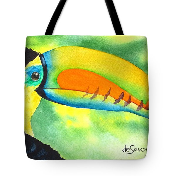 Tote Bag featuring the painting Tookey  by Diane DeSavoy
