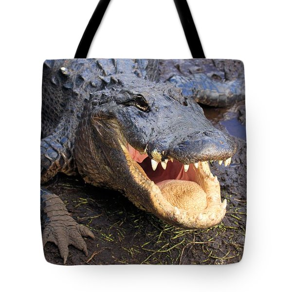 Toothy Grin Tote Bag by Adam Jewell