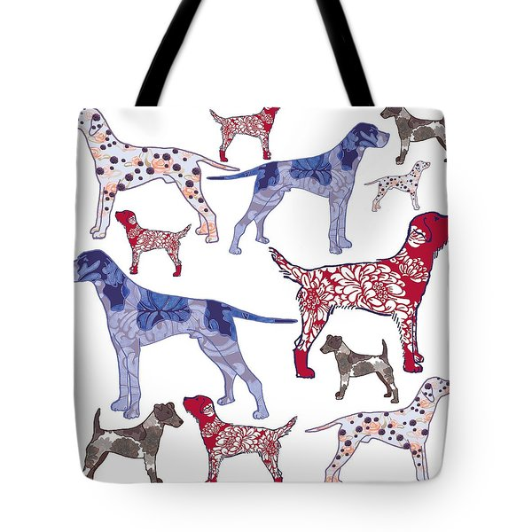 Top Dogs Tote Bag by Sarah Hough