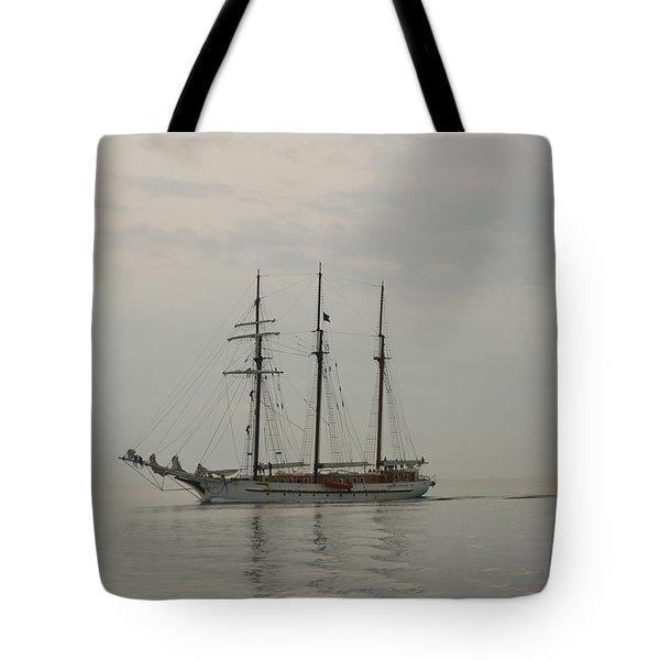 Topsail Schooner Mystic Tote Bag