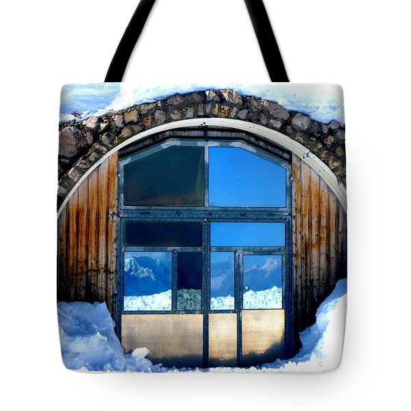 Top Of Germany Reflection Tote Bag by The Creative Minds Art and Photography